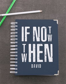 gifts: Personalised Not Now Diary!