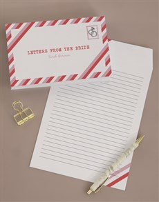 gifts: Personalised Letters To The Bride Notebook!
