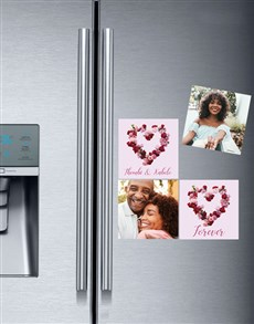 gifts: Personalised Photo Rose Magnets!
