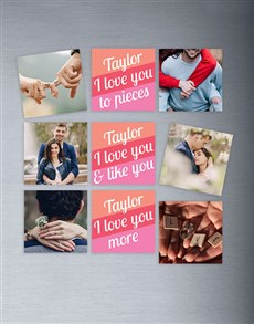 gifts: Personalised Love You Magnets!