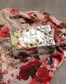 gifts: Personalised Watercolour Trinket Box and Scarf !