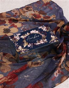 gifts: Personalised Wonderland Trinket Box and Scarf!