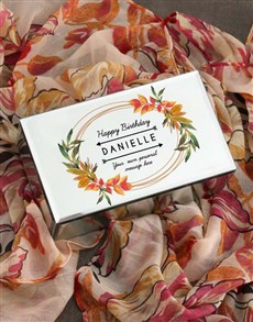 gifts: Personalised Birthday Trinket Box and Scarf!