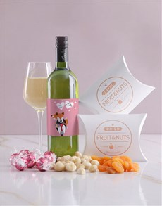 gifts: Personalised Foxy Wine and Snack Hamper!