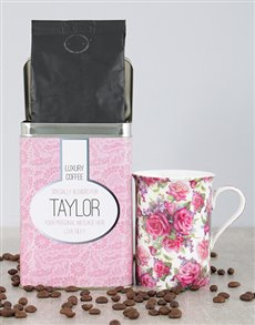gifts: Personalised Pink Charm Coffee Tin!