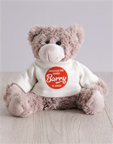 gifts: Personalised Teddy Bear Hugs And Snuggles !