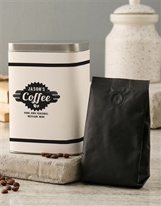 gifts: Personalised Coffee Tin!