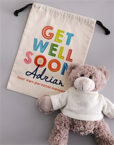 gifts: Personalised Get Well Teddy Bear!