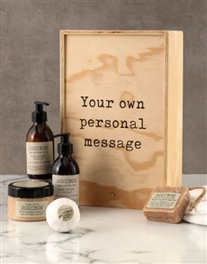 gifts: Personalised Rooibos Bath Time Crate!