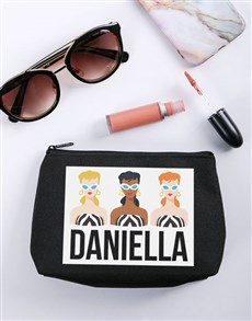 gifts: Personalised Barbie Striped Cosmetic Bag!