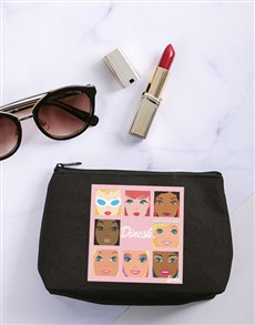 gifts: Personalised Barbie Faces Cosmetic Bag!