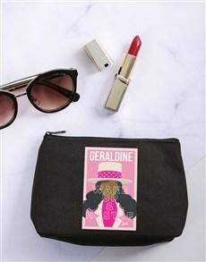gifts: Personalised Barbie Hustle Cosmetic Bag!