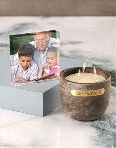 gifts: Personalised Rustic Vanilla Scented Candle Set!