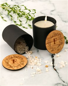 gifts: Personalised Floral Vanilla Scented Candle Set!