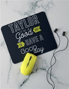 gifts: Personalised Good Day Desk Tech Set!