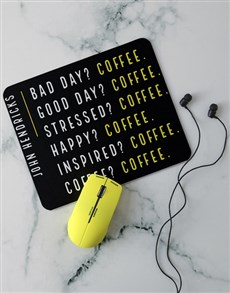 gifts: Personalised Coffee Addict Desk Tech Set!