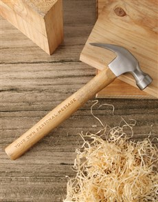 gifts: Personalised Message Hammer And Tool Box!