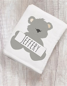 gifts: Personalised Cuddly Teddy Baby Blanket!