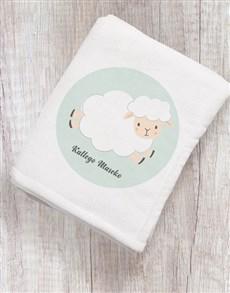 gifts: Personalised Baby Sheep Blanket!