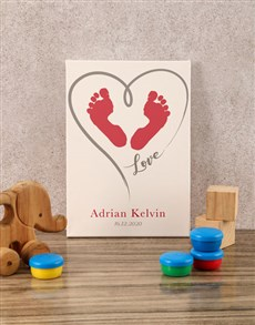 gifts: Personalised Little Feet Baby Canvas!