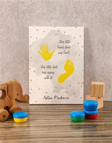 gifts: Personalised Hands and Feet Baby Canvas!