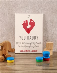 gifts: Personalised Love You Daddy Baby Canvas!