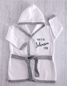 gifts: Personalised New to The Crew Baby Gown!