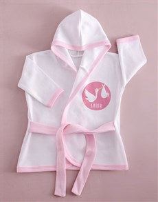 gifts: Personalised Pink Stork Baby Gown!
