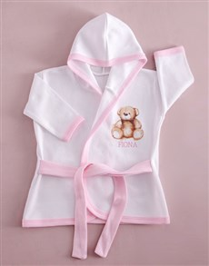 gifts: Personalised Pink Bear Baby Gown!