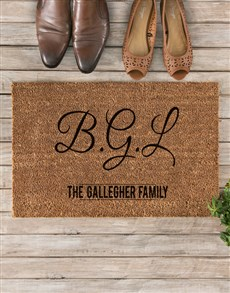 gifts: Personalised Monogram Doormat!