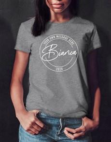gifts: Personalised Retro Stamp Ladies T Shirt!