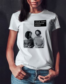 gifts: Personalised Photo Block Ladies T Shirt!