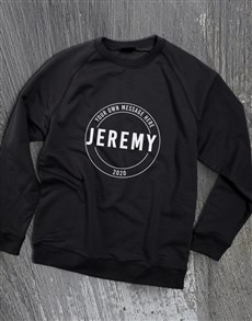 gifts: Personalised Stamp Black Sweatshirt!