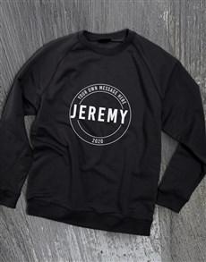 gifts: Personalised Stamp Black Sweatshirt!