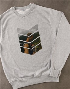 gifts: Personalised Pattern Photo Grey Sweatshirt!
