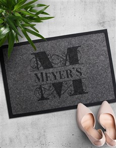 gifts: Personalised Family Initial Doormat!