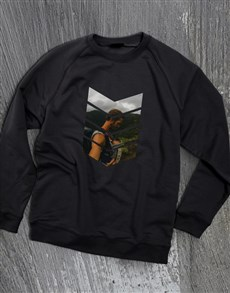 gifts: Personalised Pattern Photo Black Sweatshirt!