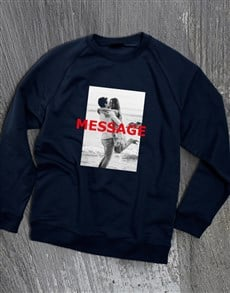 gifts: Personalised Photo Overlay Navy Sweatshirt!