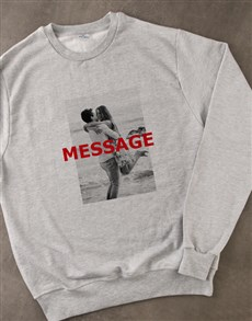 gifts: Personalised Photo Overlay Grey Sweatshirt!
