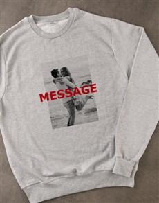 gifts: Personalised Photo Overlay Grey Sweatshirt!