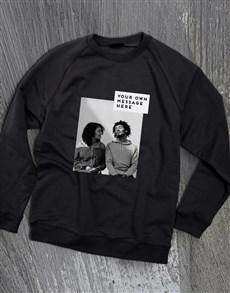 gifts: Personalised Photo Block Black Sweatshirt!