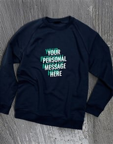gifts: Personalised Layered Text Navy Sweatshirt!
