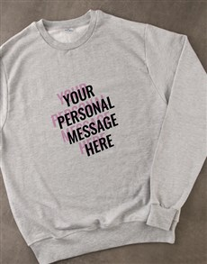 gifts: Personalised Layered Text Grey Sweatshirt!