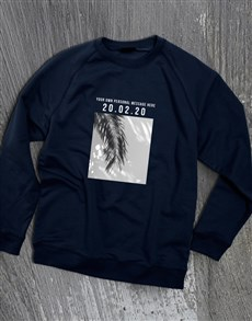 gifts: Personalised Memory Time Navy Sweatshirt!
