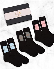 gifts: Personalised Things I love Sock Pack!