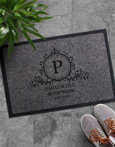 gifts: Personalised Simple Sophistication Doormat!