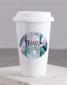 gifts: Personalised Leaves Travel Mug!