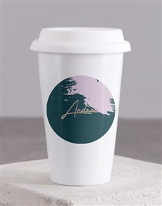 gifts: Personalised Modern Painterly Travel Mug!
