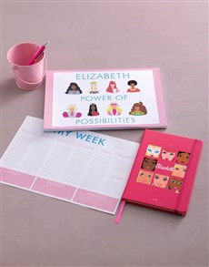 gifts: Personalised Possibilities Barbie Stationery Set!