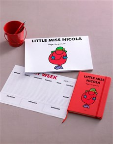 gifts: Personalised Red Little Miss Stationery Set!